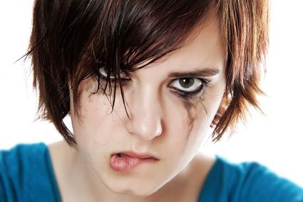 crying angry teenager
