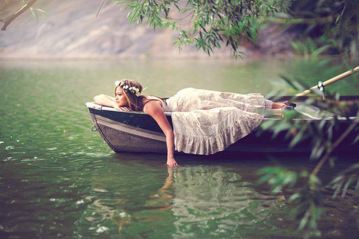 woman-river-boat