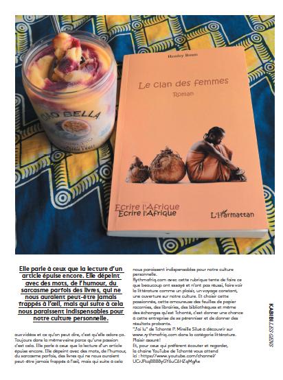 Tchonté nous donne envie de lire, kabibi, kaléidoscope de moi, aida bamba