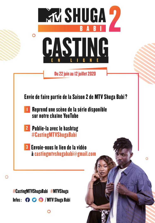 MTV SHUGA BABI SAISON DEUX, CASTING, ABIDJAN, COTE D'IVOIRE